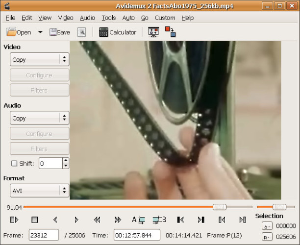 Phần mềm chỉnh sửa video avidemux