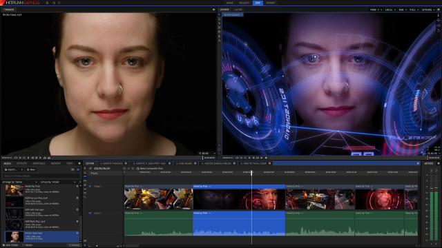 Phần mềm chỉnh sửa video Hitfilm Express