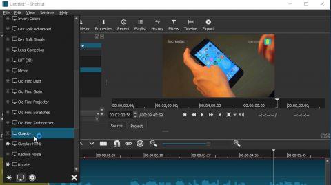 Phần mềm chỉnh sửa video shotcut