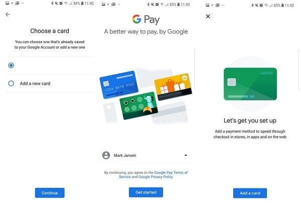 Cách thiết lập tài khoản Google Pay