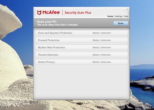 Mục đích quan trọng của McAfee Security Scan là gì?