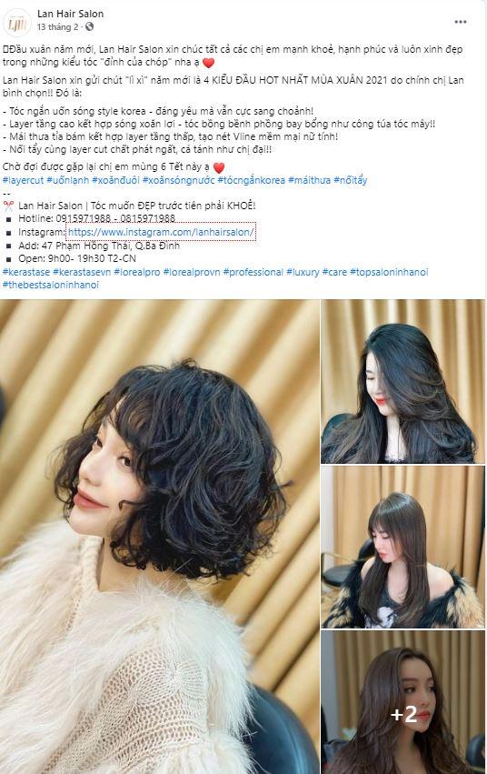 STT quảng cáo hay về tóc dịp Tết