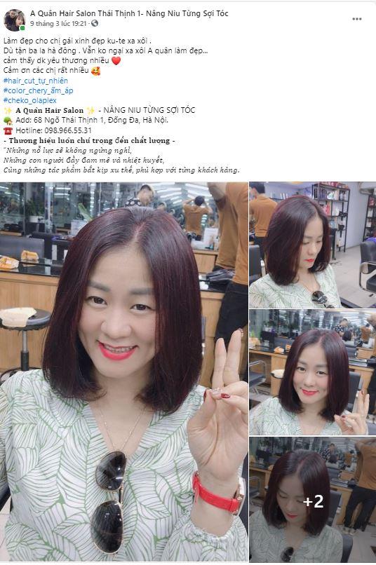 Mẫu bài quảng cáo về tóc ấn tượng